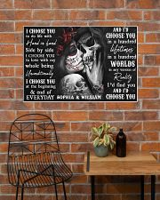 Sugar Skull Couple I Choose You  36x24 Poster poster-landscape-36x24-lifestyle-20
