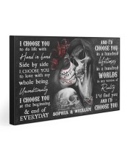Sugar Skull Couple I Choose You  30x20 Gallery Wrapped Canvas Prints thumbnail