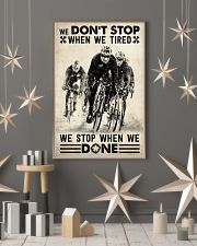 We Don't Stop Cycling 24x36 Poster lifestyle-holiday-poster-1