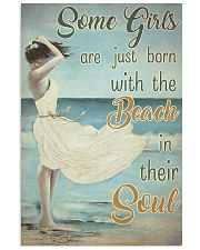 Some Girls Born With The Beach Painting 24x36 Poster front