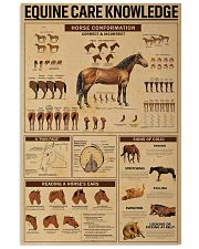 Equine Care Knowledge 16x24 Poster front