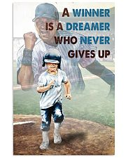 Baseball Never Gives Up 24x36 Poster front