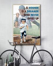 Baseball Never Gives Up 24x36 Poster lifestyle-poster-7