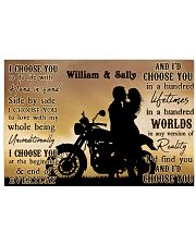 Motorcyling Silhouette I Choose You 36x24 Poster front