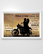 Motorcyling Silhouette I Choose You 36x24 Poster poster-landscape-36x24-lifestyle-02