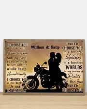 Motorcyling Silhouette I Choose You 36x24 Poster poster-landscape-36x24-lifestyle-03