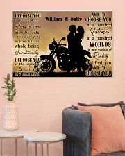 Motorcyling Silhouette I Choose You 36x24 Poster poster-landscape-36x24-lifestyle-18