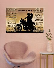 Motorcyling Silhouette I Choose You 36x24 Poster poster-landscape-36x24-lifestyle-19