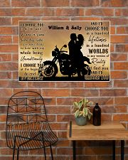 Motorcyling Silhouette I Choose You 36x24 Poster poster-landscape-36x24-lifestyle-20