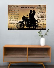 Motorcyling Silhouette I Choose You 36x24 Poster poster-landscape-36x24-lifestyle-21