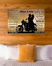 Motorcyling Silhouette I Choose You 36x24 Poster poster-landscape-36x24-lifestyle-23