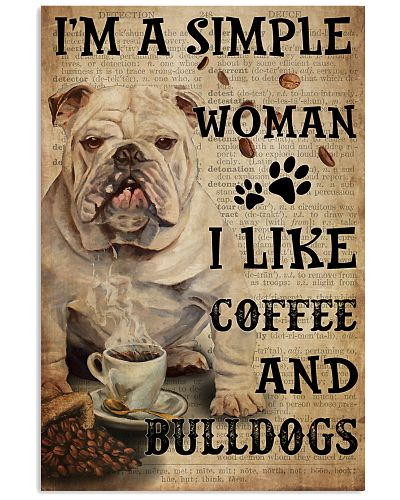 Simple Woman Loves Bulldog And Coffee