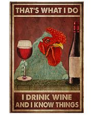 Chicken Drink Wine 24x36 Poster front
