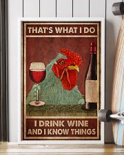 Chicken Drink Wine 24x36 Poster lifestyle-poster-4