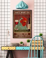 Chicken Drink Wine 24x36 Poster lifestyle-poster-6