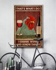 Chicken Drink Wine 24x36 Poster lifestyle-poster-7
