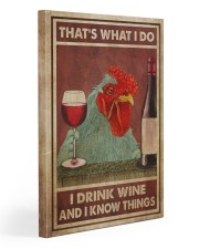 Chicken Drink Wine 20x30 Gallery Wrapped Canvas Prints thumbnail