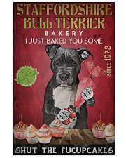 Staffordshire Bull Terrier Fucupcakes 24x36 Poster front