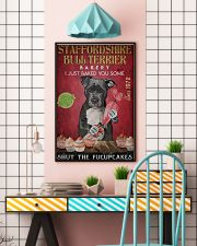 Staffordshire Bull Terrier Fucupcakes 24x36 Poster lifestyle-poster-6