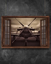 Aircraft Front Window  36x24 Poster aos-poster-landscape-36x24-lifestyle-11