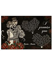 Sugar Skull Couple I Promise You 36x24 Poster front