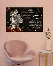 Sugar Skull Couple I Promise You 36x24 Poster poster-landscape-36x24-lifestyle-19