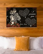 Sugar Skull Couple I Promise You 36x24 Poster poster-landscape-36x24-lifestyle-23