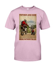 Father And Son Motocross Classic T-Shirt tile