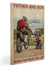 Father And Son Motocross Gallery Wrapped Canvas Prints tile