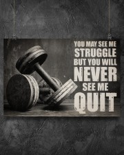 Dumbbell Struggle But Never Quit  36x24 Poster aos-poster-landscape-36x24-lifestyle-11