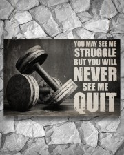 Dumbbell Struggle But Never Quit  36x24 Poster aos-poster-landscape-36x24-lifestyle-12