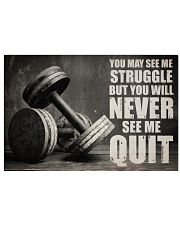 Dumbbell Struggle But Never Quit  36x24 Poster front