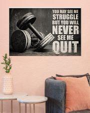 Dumbbell Struggle But Never Quit  36x24 Poster poster-landscape-36x24-lifestyle-18
