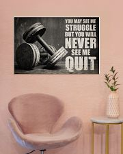 Dumbbell Struggle But Never Quit  36x24 Poster poster-landscape-36x24-lifestyle-19
