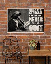 Dumbbell Struggle But Never Quit  36x24 Poster poster-landscape-36x24-lifestyle-20