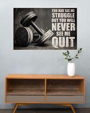 Dumbbell Struggle But Never Quit  36x24 Poster poster-landscape-36x24-lifestyle-21