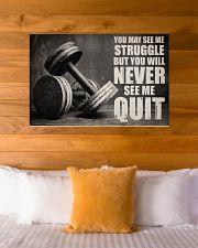 Dumbbell Struggle But Never Quit  36x24 Poster poster-landscape-36x24-lifestyle-23