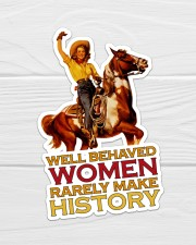 Cowgirl Well Behaved Women Sticker - Single (Vertical) aos-sticker-single-vertical-lifestyle-front-01