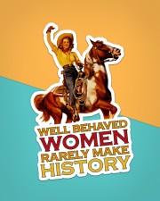 Cowgirl Well Behaved Women Sticker - Single (Vertical) aos-sticker-single-vertical-lifestyle-front-02