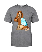 Basset Hound I Love Mom Classic T-Shirt front