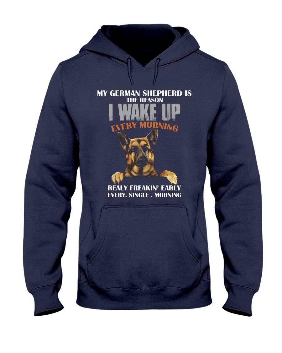 German Shepherd - I wake up Hooded Sweatshirt