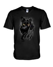Cat Beauty V-Neck T-Shirt thumbnail