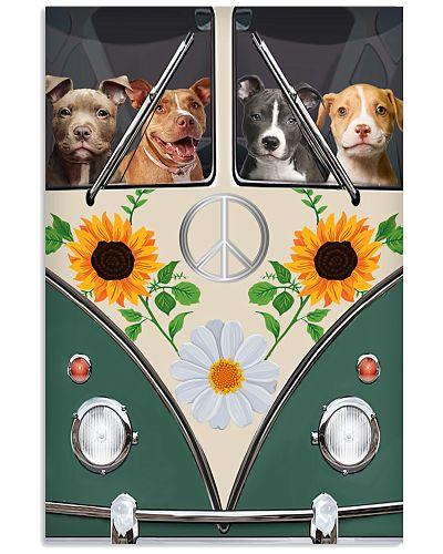 Pit Bull Hippie Bus Poster