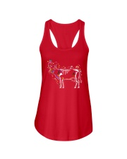 Cow -Day of The Dead Ladies Flowy Tank thumbnail