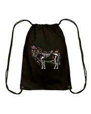 Cow -Day of The Dead Drawstring Bag thumbnail