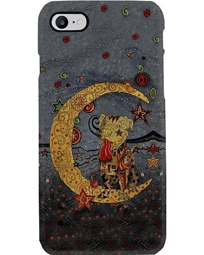 Pit Bull Half Moon Phone Case