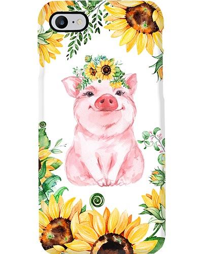 Pig Sunflower Phonecase