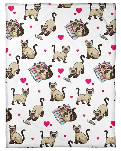 Cat Funny Blanket Heart Love Graphic Design