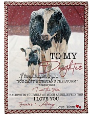 "Cow To My Daughter  Large Fleece Blanket - 60"" x 80"" front"
