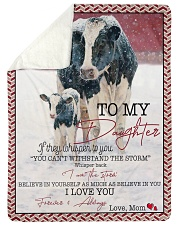 "Cow To My Daughter  Large Sherpa Fleece Blanket - 60"" x 80"" thumbnail"